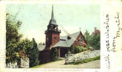 Catholic Church - Mt. Desert Island, Maine ME Postcard