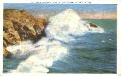 Mt. Desert Island, Maine, ME Postcard