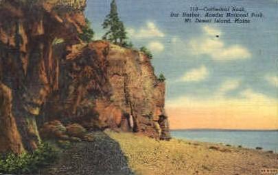 Cathedral Rock - Mt. Desert Island, Maine ME Postcard