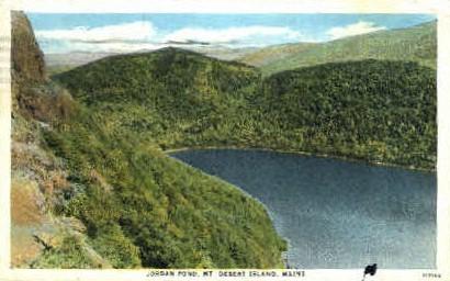 Jordan Pond - Mt. Desert Island, Maine ME Postcard