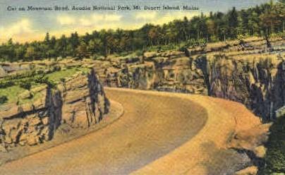 Cut on Mountain - Mt. Desert Island, Maine ME Postcard
