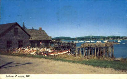 Lobster Country - Mt. Desert Island, Maine ME Postcard