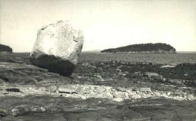 Balance Rock, Bar Harbor - Mt. Desert Island, Maine ME Postcard