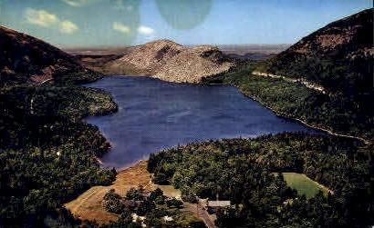 Jordan Pond & The Bubbles - Mt. Desert Island, Maine ME Postcard