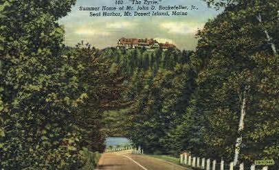 Home of Mr. John D. Rockefeller Jr. - Mt. Desert Island, Maine ME Postcard