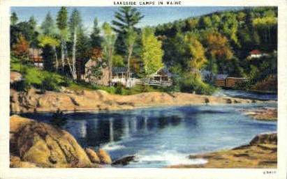Lakeside Camps - Misc, Maine ME Postcard