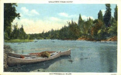 The Penobscot River - Misc, Maine ME Postcard
