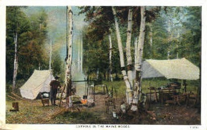 Camping - Misc, Maine ME Postcard