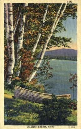 Lakeside Birches - Misc, Maine ME Postcard