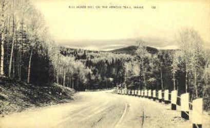 Kill Horse Hill - Arnold Trail, Maine ME Postcard