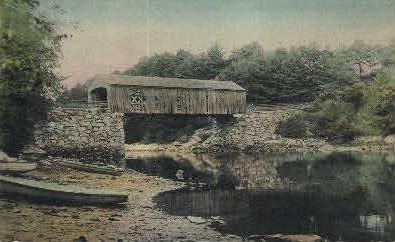A Bridge - Misc, Maine ME Postcard