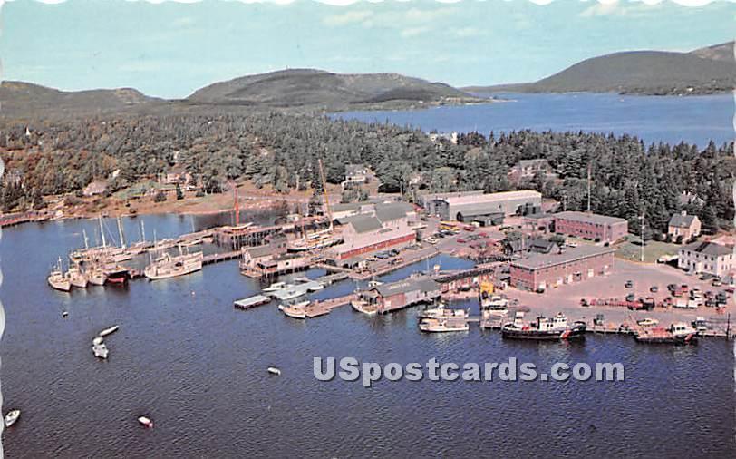 Southwest Harbor & Somes Sound - Mount Desert Island, Maine ME Postcard