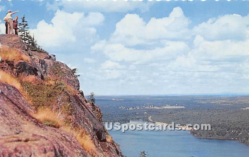 Beach Cliff across Echo Lake - Mount Desert Island, Maine ME Postcard