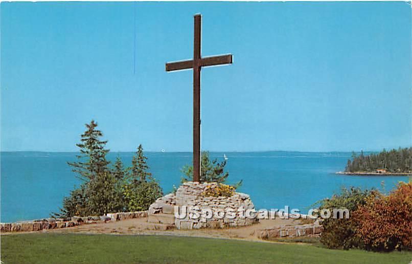 The Oblate Cross - Mount Desert Island, Maine ME Postcard