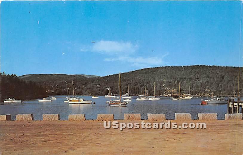 New Municipal Pier - Mount Desert Island, Maine ME Postcard