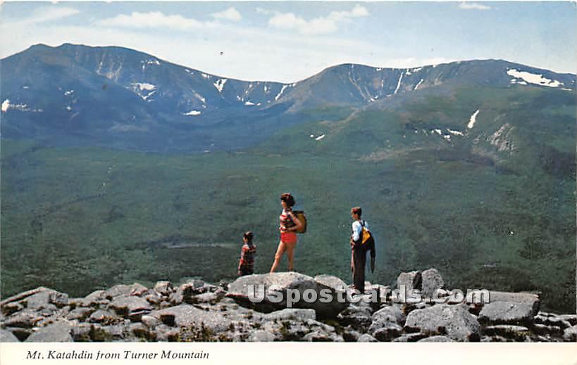Turner Mountain - Mt. Katahdin, Maine ME Postcard