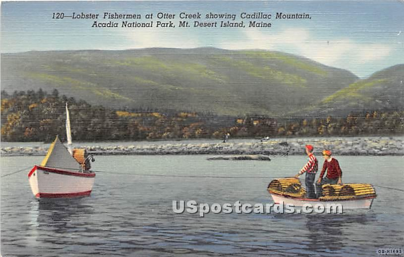 Lobster Fishermen at Otter Creek - Mount Desert Island, Maine ME Postcard