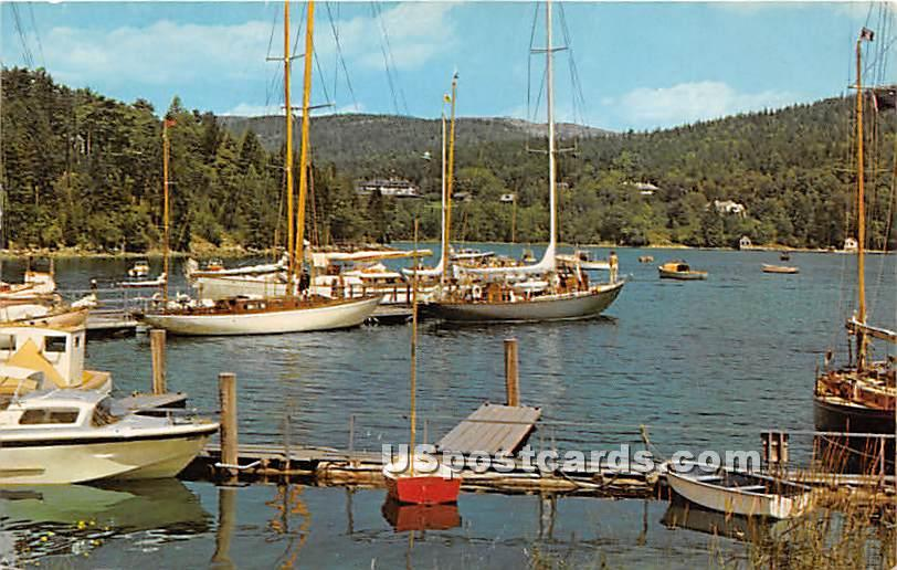 Finger Piers, Town Landing, & North East Harbor - Mount Desert Island, Maine ME Postcard