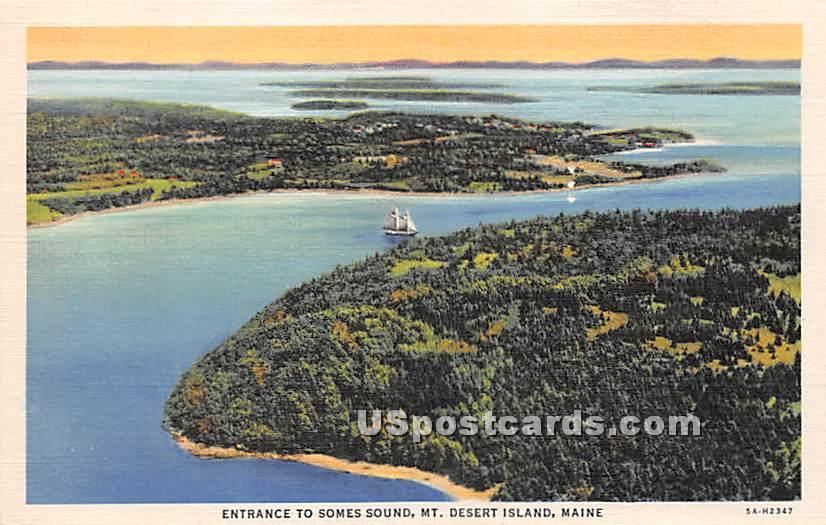 Entrance to Somes Sound - Mount Desert Island, Maine ME Postcard