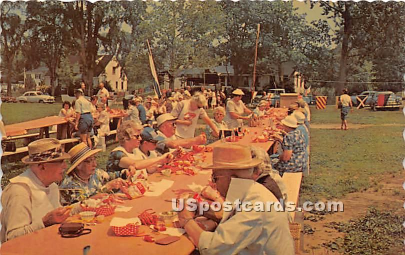 A Lobster Clambake - Misc, Maine ME Postcard