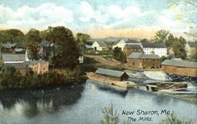 The Mills - New Sharon, Maine ME Postcard