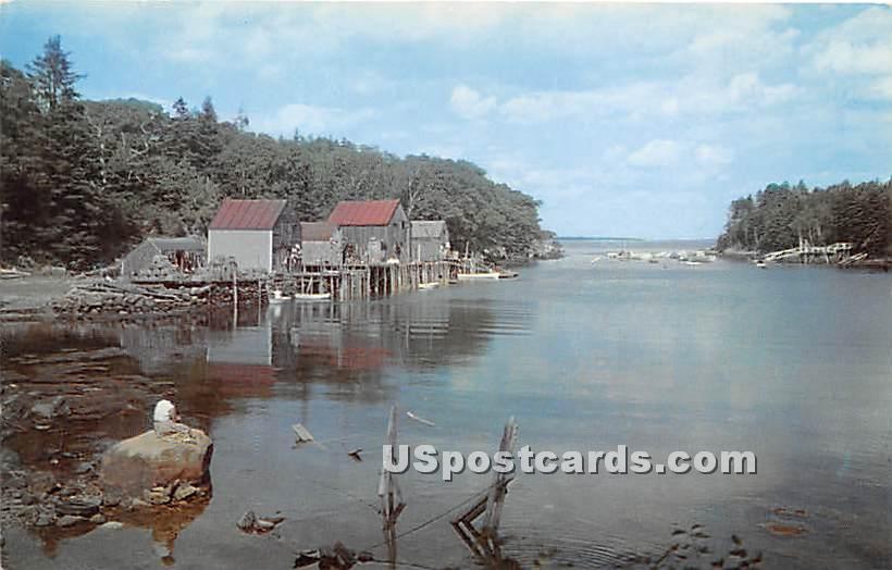 Back Cove - New Harbor, Maine ME Postcard