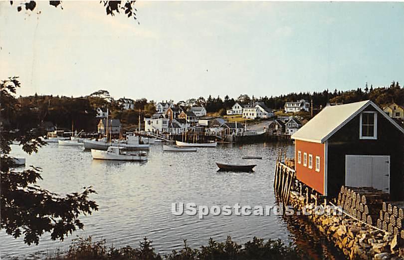Bristol Peninsula - New Harbor, Maine ME Postcard