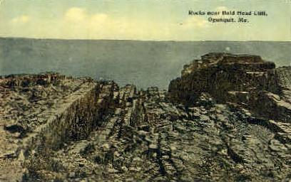 Rocks  - Ogunquit, Maine ME Postcard