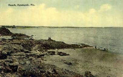 Beach - Ogunquit, Maine ME Postcard