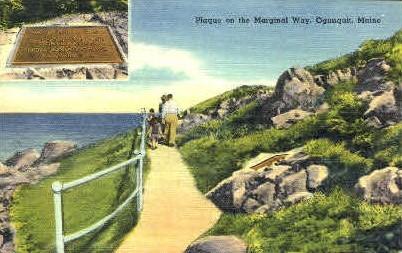 Plaque on the Marginal Way - Ogunquit, Maine ME Postcard