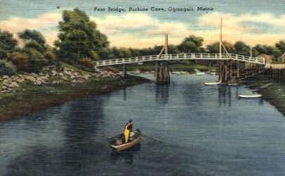 Foot Bridge, Perkins Cove - Ogunquit, Maine ME Postcard