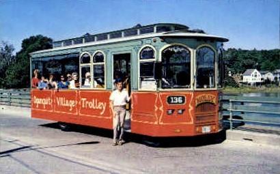 Ogunquit Village Trolley - Maine ME Postcard