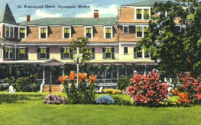 St. Aspinquid Hotel - Ogunquit, Maine ME Postcard