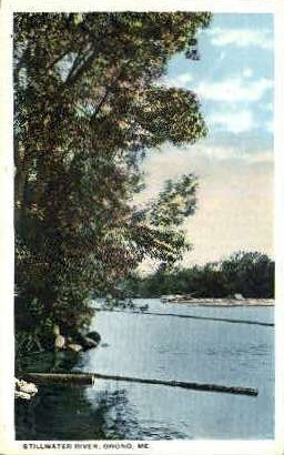 Stillwater River - Orono, Maine ME Postcard
