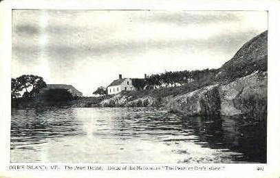 The Pearl House - Orr's Island, Maine ME Postcard