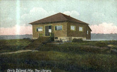 The Library - Orr's Island, Maine ME Postcard