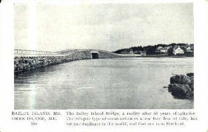 Bailey Island Bridge - Orr's Island, Maine ME Postcard