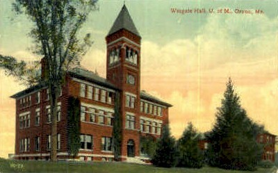 Wingate Hall, University of Maine - Orono Postcard