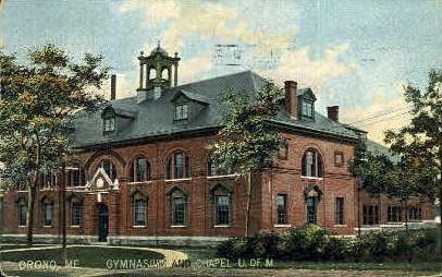 Gymnasium & Chapel, University of Maine - Orono Postcard