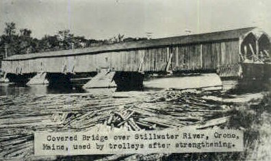 Reproduction - Coverd Bridge - Orono, Maine ME Postcard