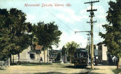 Monument Square - Orono, Maine ME Postcard