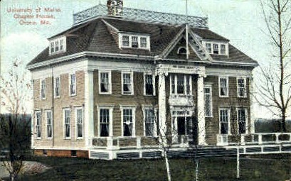 Chapter House, University of Maine - Orono Postcard