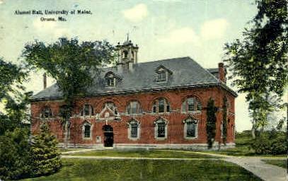 Alumni Hall, University of Maine - Orono Postcard