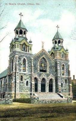 St. Mary's Church - Orono, Maine ME Postcard