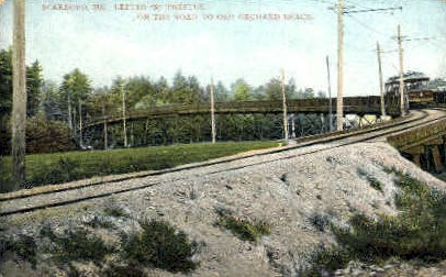 Letter S Trestle - Old Orchard Beach, Maine ME Postcard