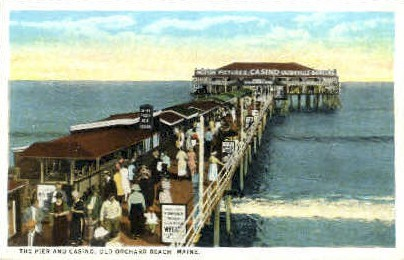 The Pier & Casino - Old Orchard Beach, Maine ME Postcard