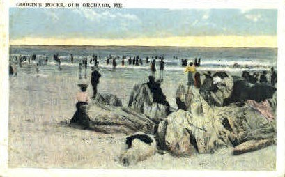 Googin's Rocks - Old Orchard Beach, Maine ME Postcard