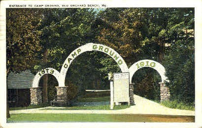 Entrance, Camp Ground - Old Orchard Beach, Maine ME Postcard