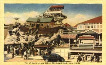 Noah's Ark & Slide - Old Orchard Beach, Maine ME Postcard