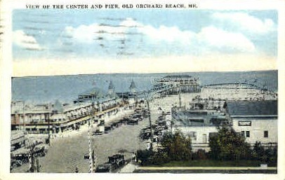 The Center & Pier - Old Orchard Beach, Maine ME Postcard